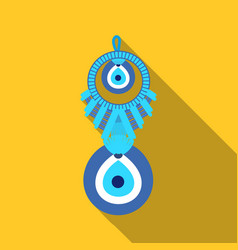 amulet nazar icon in flate style isolated on white vector image vector image
