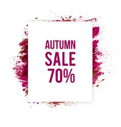 Autumn-sale vector