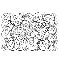 Beautiful white wallpaper with spiral pattern back vector