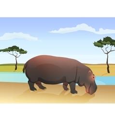 Beautiful wild african animal Big vector image vector image