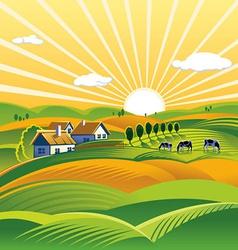 Cartoon farm design background vector