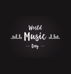 Celebration world music day background style vector