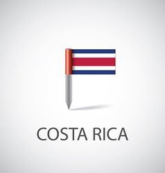 costa rica flag pin vector image