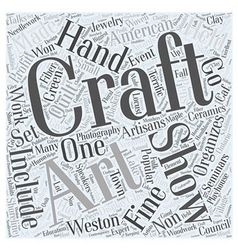 Craft shows word cloud concept vector
