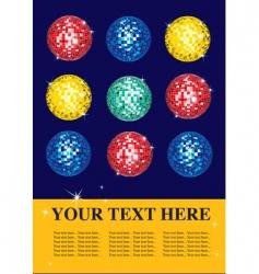 disco balls vector image vector image