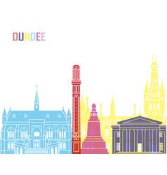 Dundee skyline pop vector