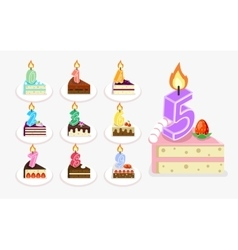 first birthday cake with candle vector image vector image