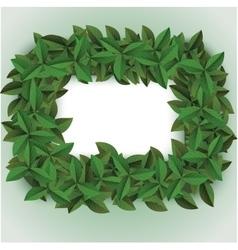 green big leaves frame vector image
