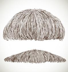 lush retro mustache vector image vector image