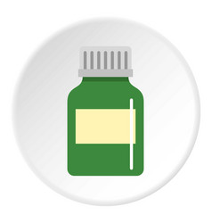 Medicine bottle icon circle vector