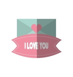 message i love you blue envelope vector image