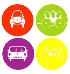 monochrome icon set with toys vector image vector image