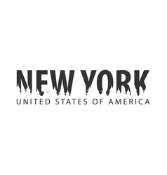 New york usa united states of america text or vector