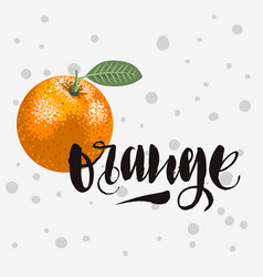 Orange rough traced custom artistic handwritten vector