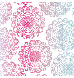 Pattern red and blue gradient brilliant flower vector