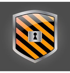 Security shield with keyhole vector