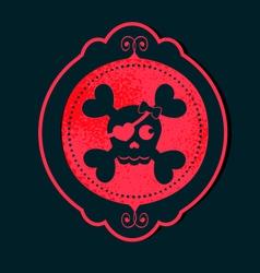 skull girl cameo pink vector image vector image