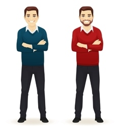 Smiling handsome casual man vector image