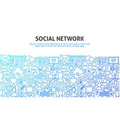 Social network concept vector