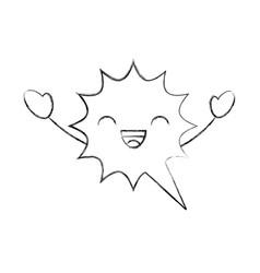 speech bubble kawaii character vector image