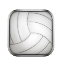 Square icon for volleyball app or games vector image vector image