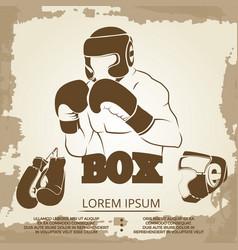 vintage sport poster design - grunge box banner vector image vector image
