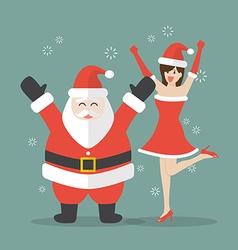 Santa claus and Santa woman vector image