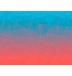Gradient 2d triangle geometric multicolor vector