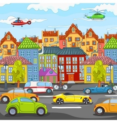 City cartoon vector