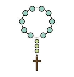 Holy rosary icon vector