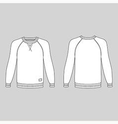 Long sleeve t shirt royalty free vector image vectorstock for Long sleeve t shirt template illustrator