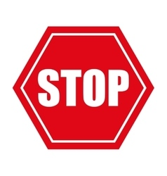 Stop danger precaution sign traffic vector