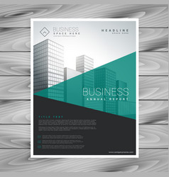 Modern torquoise brochure flyer with geometric vector