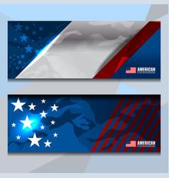 Usa banner design vector