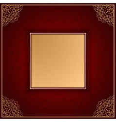 Royal luxury red invitation card with ornament vector