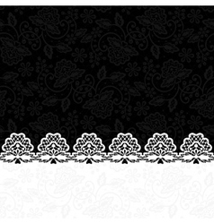 Greeting card with lace border vector