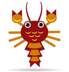 Red lobster on a white background vector