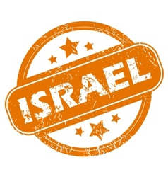 Israel grunge icon vector