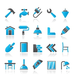 Building and home renovation icons vector