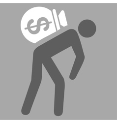 Money courier icon from commerce set vector