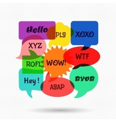 Speech bubbles with short messages vector