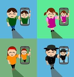 Abstract selfie vector image