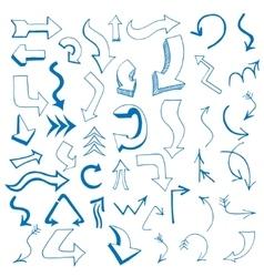 arrows set written vector image vector image