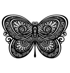 Artistic buttefly design vector