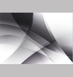 Black and white curve abstract background vector