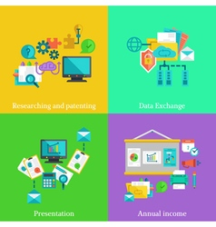 Business flat concepts set vector image