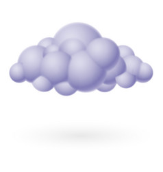 Cloud icon on white for design vector