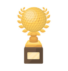 cup for winning a golf tournamentgolf club single vector image