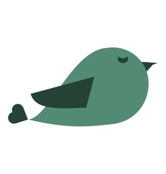 cute cartoon bird icon vector image