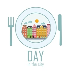 day in the city vector image vector image